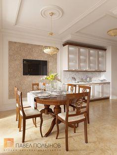 Фото дизайн интерьера кухни из проекта «Дизайн интерьера четырехкомнатной квартиры в классическом стиле, 204 кв.м.»