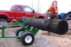 Homemade log splitters are often made on small trailers so they can be transported behind a pick-up truck to split and haul wood . Metal Projects, Welding Projects, Quad, Log Trailer, Trailers, Firewood Logs, Wood Mill, Log Splitter, Tractor Implements