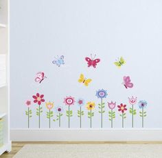 Bright Butterfly Garden Wall Decal at AllPosters.com