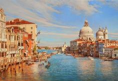 """Oleg Turchin, """"Grand Canal Venice"""" 30x40 inches, Oil on Canvas. $12,000 - Southwest Gallery: Not Just Southwest Art."""