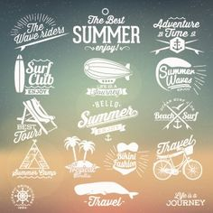 Free download Summer vacation travel labels with logos vector 04. File format: EPS. Category: Vector logo
