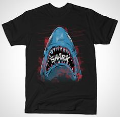 22 Awesome Shark T Shirts for Shark Week | 18. Shark – by FernandoSala