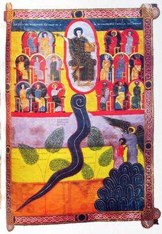 22,11: Strom des Lebens - Facundus-Handschrift, Beatus-Apokalypsekommentar (1047)