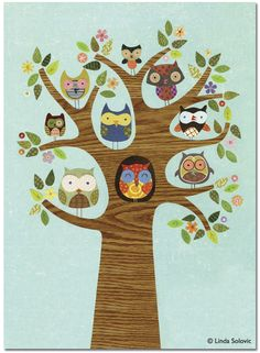 Santoro London Friends of a Feather Greeting Card by Linda Solovic, via Behance