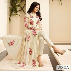 Stunning Faux Georgette Suits Indian Gowns Suit Salwar Kameez Suit Lehenga Gown #fashion #clothing #shoes #accessories #womensclothing #dresses (ebay link)