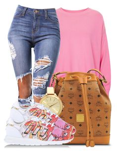 """""""Did I hurt your Feelings when I hustle like that?"""" by bria-myell on Polyvore featuring polyvore fashion style Topshop adidas Originals MCM Michael Kors women's clothing women's fashion women female woman misses juniors"""