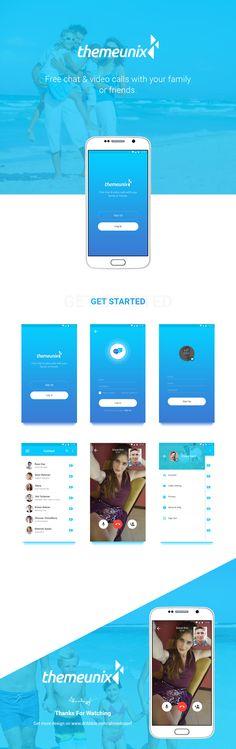 Themeunix : Video Calling App on Behance