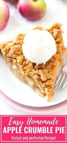 Apple Crumble Pie is made with a tender crust that is filled with juicy spiced apples and topped with a delicious buttery streusel topping This homemade dutch apple pie i. Apple Pie Recipe Easy, Easy Pie Recipes, Homemade Apple Pies, Apple Pie Recipes, Tart Recipes, Baking Recipes, Apple Pie Recipe With Canned Filling, Dutch Recipes, Dishes Recipes