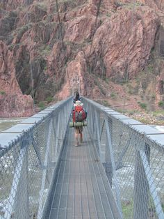 Read about Hiking the Grand Canyon Rim to Rim with kids: A trip your family will NEVER forget! Crossing the Colorado River on the Silver Bridge