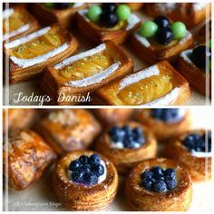 Sweet Pastries, French Pastries, Bake Croissants, Baked Doughnuts, Danishes, Fancy Desserts, Fruit Tart, Pastry Shop, Food Platters