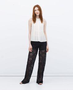 Image 1 of SHIRT-COLLAR BLOUSE from Zara
