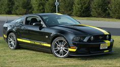 "Hertz Penske GT Top speed: 185mph Who has it: Hertz (LAX, LAS, SFO, IAD, SAN) How much it'll cost you: $180 per day Sure, this special Hertz version of the 2014 Ford Mustang sports a bold black-and-yellow racing stripe, but that's just the beginning; it's also been tricked out with around $4,500 worth of Ford Racing Performance upgrades. The only, unfortunate catch: they don't rent manual transmissions, so you'll have to ""settle"" for an automatic. Sorry dude."