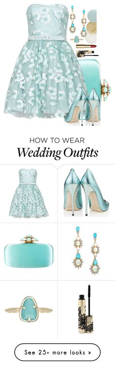 """Going to the Wedding as a Guest"" by f3arl3ssprinc3ss on Polyvore featuring Oscar de la Renta, Jimmy Choo, Kendra Scott, H&M, Nails Inc., Helena Rubenstein, Lancôme and Alexis Bittar"