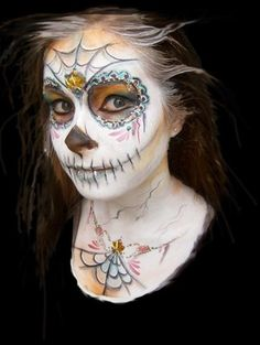 day of the dead face paint | Day of the Dead Face Painting Class, Dia de los Muertos, Personal ...