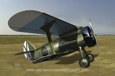 """Polikarpov I-15 (former Republican 'Chato', nicknamed """"Curtiss"""" by the Nationalists) of the 32nd Regiment at La Rabasa (Alicante, Spain), autumn 1939."""