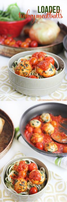 Loaded Turkey Meatballs #glutenfree #paleo from Lexi's Clean Kitchen