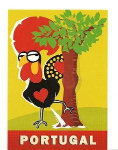 Portugal- The Barcelos cockerel Portugal, My Heritage, Portuguese, Tweety, Netherlands, Azores, Roosters, Pictures, Islands