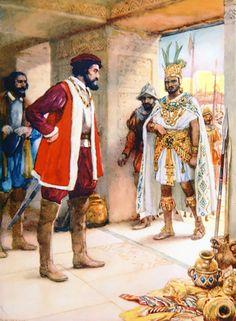 Hernan Cortes makes Moctezuma a hostage in 1519