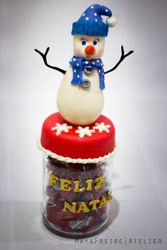 Pote decorado no tema Natal