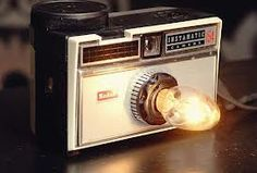 We are loving this re-purposed vintage camera as a night light!