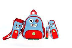 Nohoo Kids monster Backpack 3D Cute Zoo Cartoon School Boys Girls Twins Bags (3 pieces) -- Awesome products selected by Anna Churchill