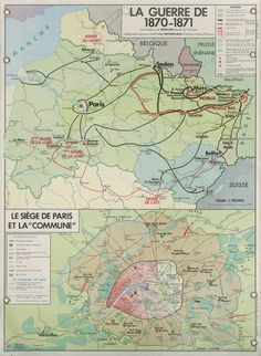La Guerre de 1870-1871 French History, European History, Us History, France Map, Old Paris, Historical Maps, Military History, Battle, Germany