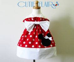 6656a1ddcbd Custom Boutique style Minnie Mouse Halter Dress Red Polka Dots - ON SALE.   27.99