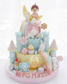 16 ideas for cupcakes decoration girly cookie decorating Fancy Cakes, Cute Cakes, Pretty Cakes, Beautiful Cakes, Winter Torte, Super Torte, Cupcakes Decorados, Baby Birthday Cakes, Girl Cakes