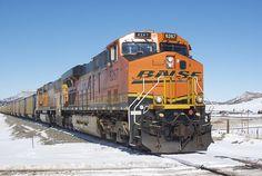BNSF train in Colorado.