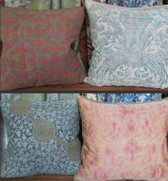 Rare 1920s Fortuny original fabrics used for pillows Photo: Debra Sidebottom