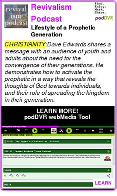 #CHRISTIANITY #PODCAST  Revivalism Podcast    Lifestyle of a Prophetic Generation    LISTEN...  http://podDVR.COM/?c=30486c3f-e980-745a-2630-065baff3ea77