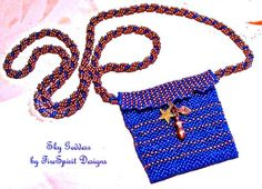 Sky Goddess- beadwoven, ooak, amulet necklace by FireSpirit Designs on Etsy, $70.00