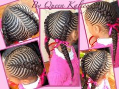 Pretty Cornrow style African American natural protective nature styles for girls teens kids