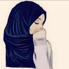 gambar hijab, drawing, and islam Anime Muslim, Muslim Hijab, Hijabi Girl, Girl Hijab, Muslim Girls, Muslim Women, Muslim Couples, Niqab, Beautiful Hijab