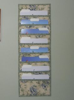 Hanging File Folder Organizer.  Cute Idea for keeping sewing patterns handy