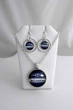 ac60b9545b Seattle Seahawks NFL Inspired Handmade by CloudlessSkyJewelry