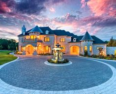 Luxury Home Magazine Dallas | Fort Worth #homes #luxury #realestate #castle #mansion #estate #architecture #lighting #clouds #driveway #front #yard