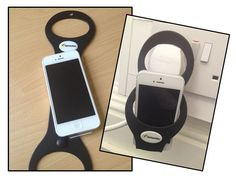 Iphone hand cuffs - help keep your phone safe and secure while charging Find us on facebook at https://www.facebook.com/JNLondon