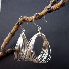 Jackie O's Earrings in Sterling Silver by inkjewelry on Etsy, $58.00 inkjewelry.etsy.com