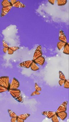Purple Butterfly Wallpaper, Purple Wallpaper Iphone, Iphone Wallpaper Tumblr Aesthetic, Iphone Background Wallpaper, Aesthetic Pastel Wallpaper, Aesthetic Wallpapers, Aesthetic Backgrounds, Phone Backgrounds, Ed Wallpaper