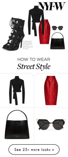 """""""nyc street style"""" by dreampairs on Polyvore featuring Dice Kayek, Cushnie Et Ochs, Ted Baker and Fendi"""