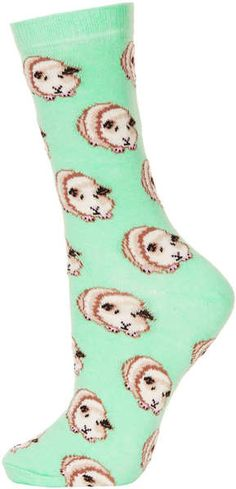 guinea pig socks topshop | Topshop Lace Trim Ankle Socks in Green (khaki) | Lyst
