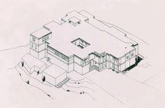 Reconstruction of the Palace at Gournia. The Palace was build c. 1600 BCE, it was small, less than a tenth the size of the palace of Knossos. Destroyed c. 1400 BCE, when the other palaces were destroyed in Crete.