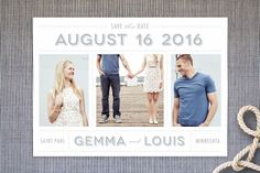 Picture Perfect Save the Date Cards by The Social Type at minted.com
