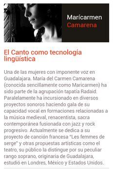 Mari Carmen Camarena Orgullosa Ponente 2014 Tapatía y conocida por su privilegiada voz.  Ella también tiene una gran historia que contarte. Síguela en las charlas TEDEx Guadalajara y conoce más a cerca de una tapatía muy influyente.