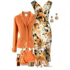 orange/peach outfit #womensfashionatwork