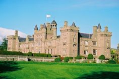 Kinnaird Castle, Angus, Scotland, sits in 800 acres of mature parkland between Brechin and the Montrose Basin. The house has been occupied by the Carnegie family (Earls of Southesk) for over 600 years.  Architect: James Playfair (18th C), David Bryce (19th C) Building Date: 1790, later mid-19th C additions