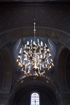 Glowing Chandelier - The German Church  Helsinki, Finland