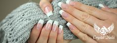 Pink &white  acrylic salon shape