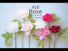 Paper Flowers Craft, Paper Flower Backdrop, Felt Flowers, Flower Crafts, Diy Flowers, Fabric Flowers, Ribbon Flower Tutorial, Bow Tutorial, Crepe Paper Roses